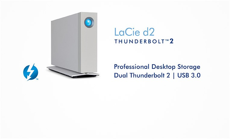 "<h2>LaCie d2 Thunderbolt™ 2</h2> <p>In every office setting, it has to connect to any computer, deliver more than enough speed for the most demanding applications, and be completely reliable. Enter the LaCie d2 USB 3.0 Thunderbolt Series.</p> <strong>Choose from 3TB to 6TB</strong> <a href=""index.php?route=product/manufacturer/product&manufacturer_id=14""></a>"