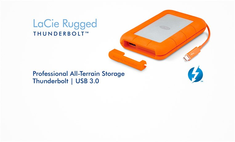 "<h2>LaCie Rugged Thunderbolt™</h2> <p>With IP 54-rated resistance to the elements and blinding-fast speeds through Thunderbolt and USB 3.0, you don't have to compromise between durability, mobility, and speed.</p> <strong>Choose from 1TB to 2TB</strong> <a href=""index.php?route=product/product&filter_name=Rugged+thunderbolt&product_id=536""></a>"