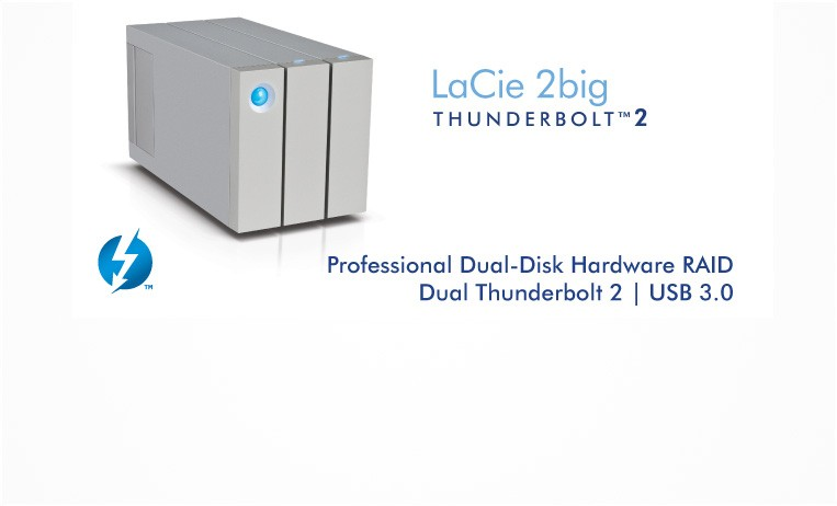 "<h2>LaCie 2big Thunderbolt™ 2</h2> <p>Its all-new industrial design demolishes the status quo and sets a new standard for versatility and reliability. Unbeatable Thunderbolt 2 technology and hardware RAID for sensational performance.</p> <strong>Choose from 6TB to 12TB</strong> <a href=""index.php?route=product/product&path=72&product_id=539""></a>"